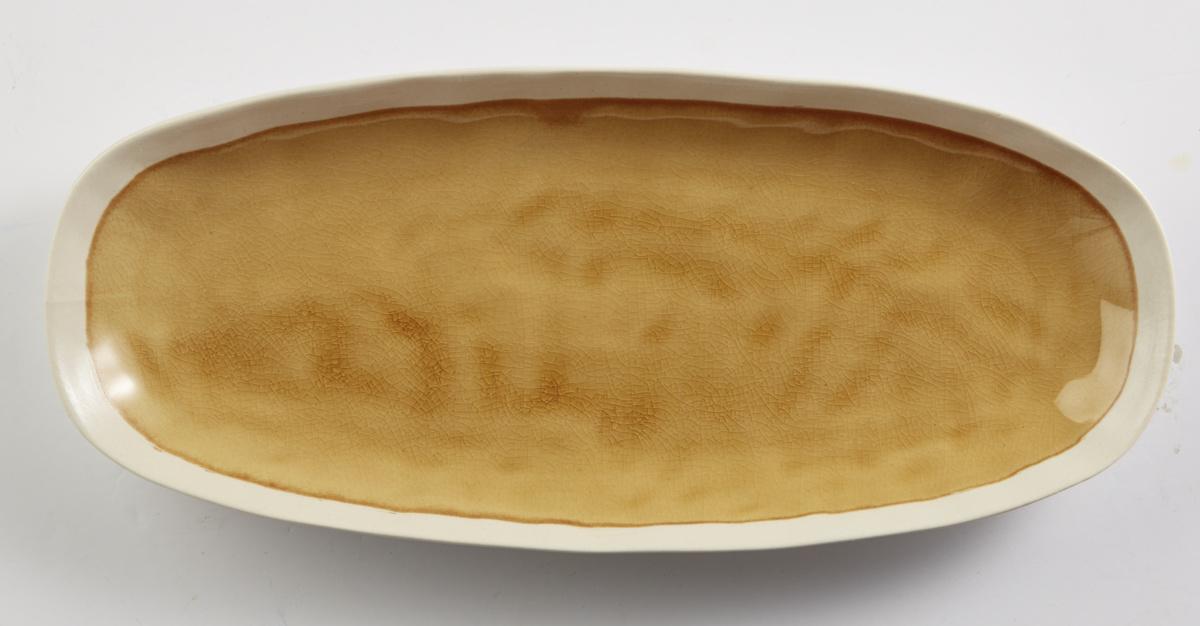 Plat ovale jaune grès 30,50 cm Winter Pro.mundi