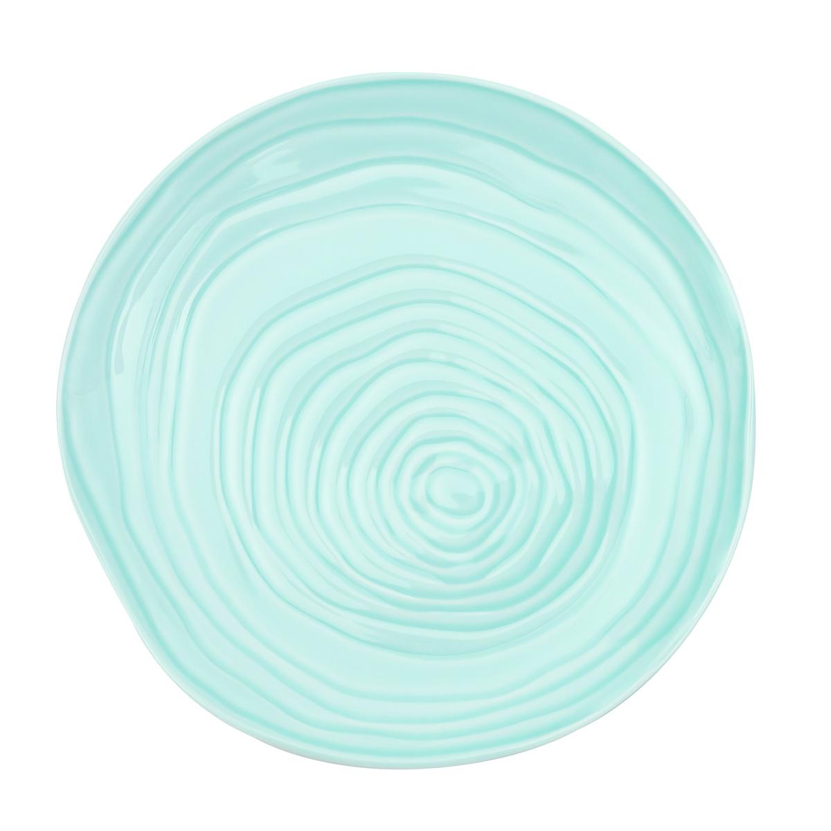 Assiette coupe plate ronde bleu clair porcelaine Ø 16 cm Teck Pillivuyt