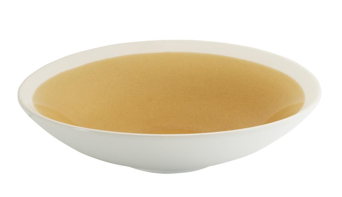 Assiette extra creuse ronde jaune grès Ø 24 cm Winter Pro.mundi