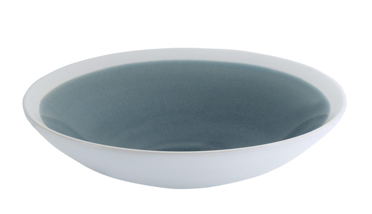 Assiette extra creuse ronde bleue grès Ø 24 cm Winter Pro.mundi