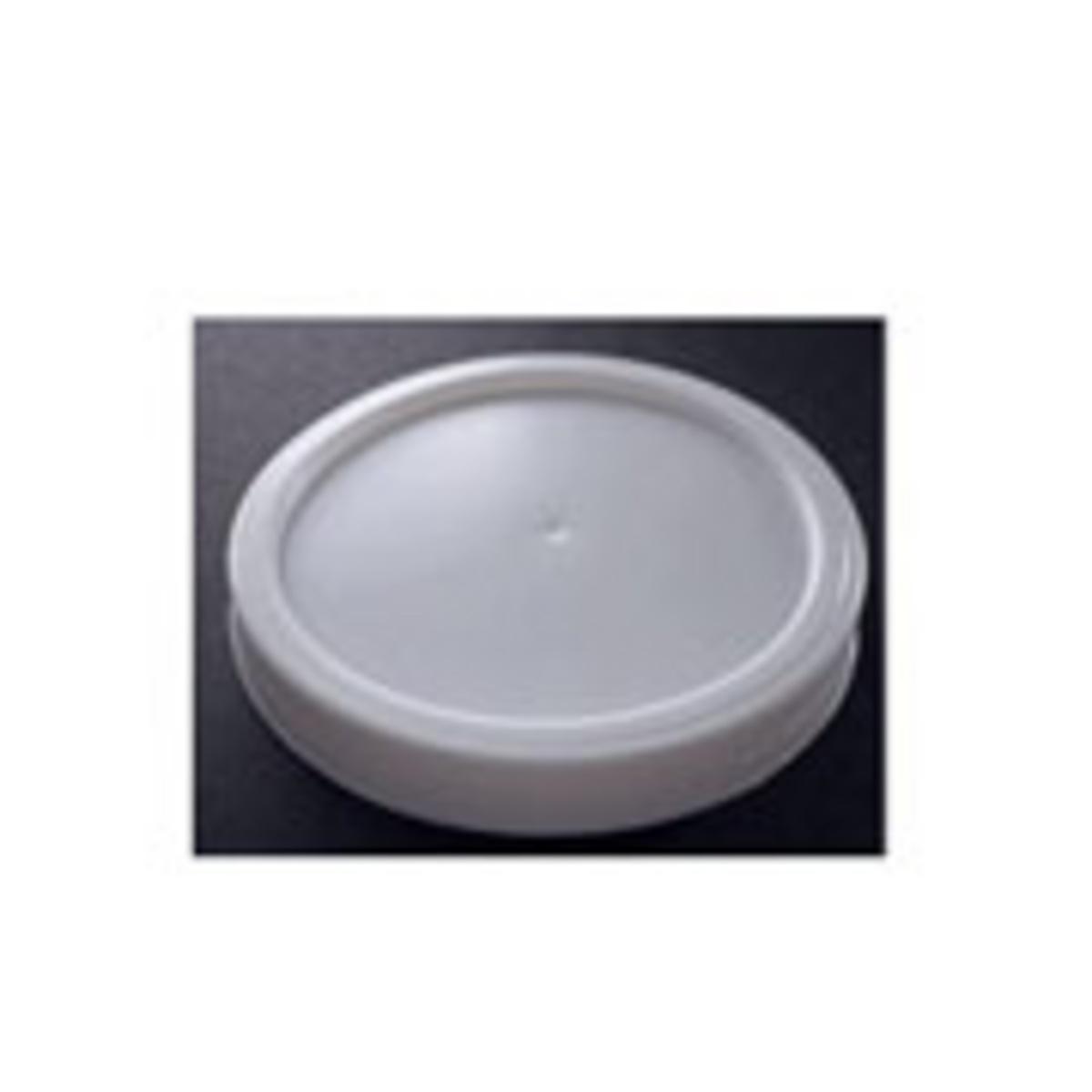 Couvercle plat pour gobelet 10 cl blanc plastique Ø 6,20 cm Hot Cup Huhtamaki (100 pièces)