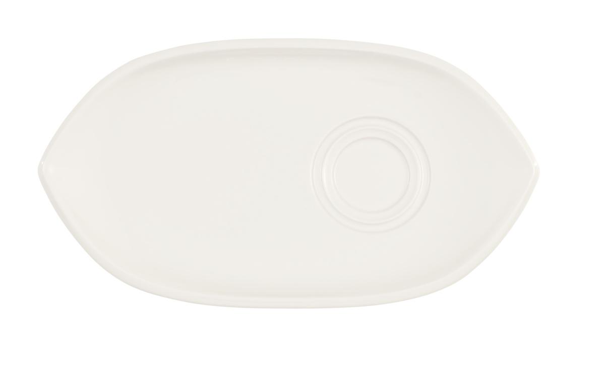 Sous-tasse à thé / déjeuner gourmand ovale ivoire porcelaine 29 cm Artesano Villeroy & Boch