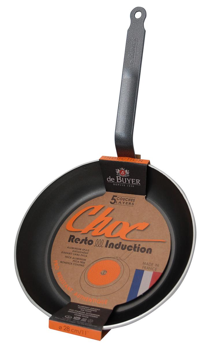 Poêle ronde aluminium Avec revêtement anti adhésif Ø 24 cm Choc Resto Induction De Buyer