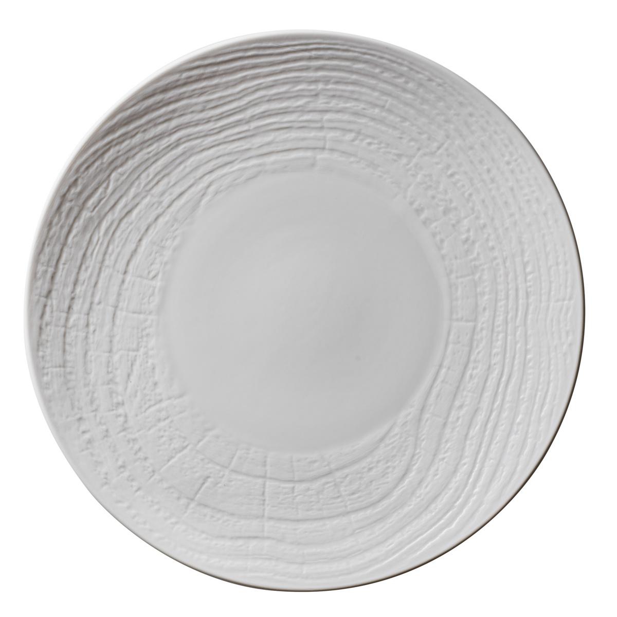 Assiette coupe plate ronde ivoire porcelaine Ø 21,50 cm Arborescence Revol