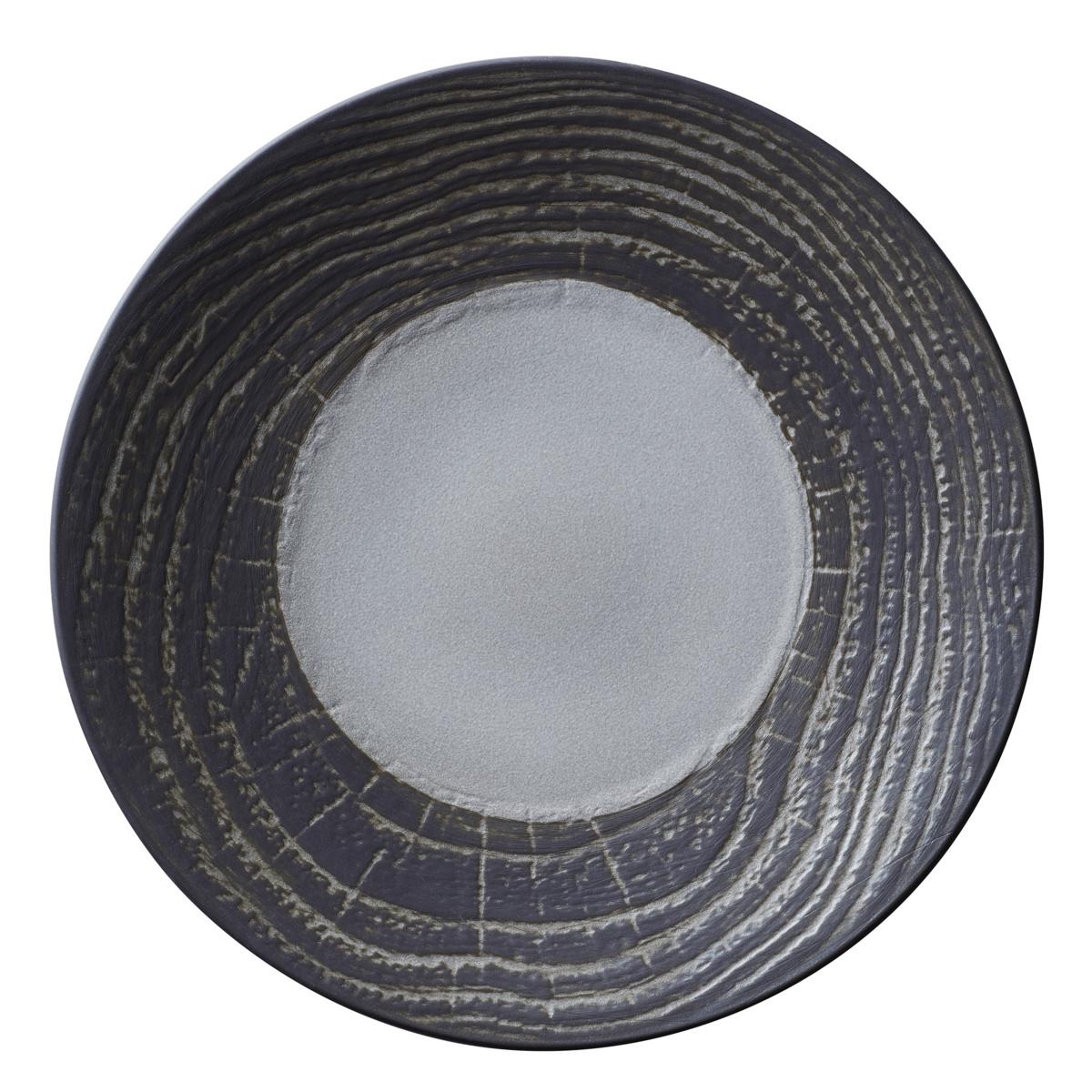 Assiette coupe plate ronde poivre porcelaine Ø 21,50 cm Arborescence Revol