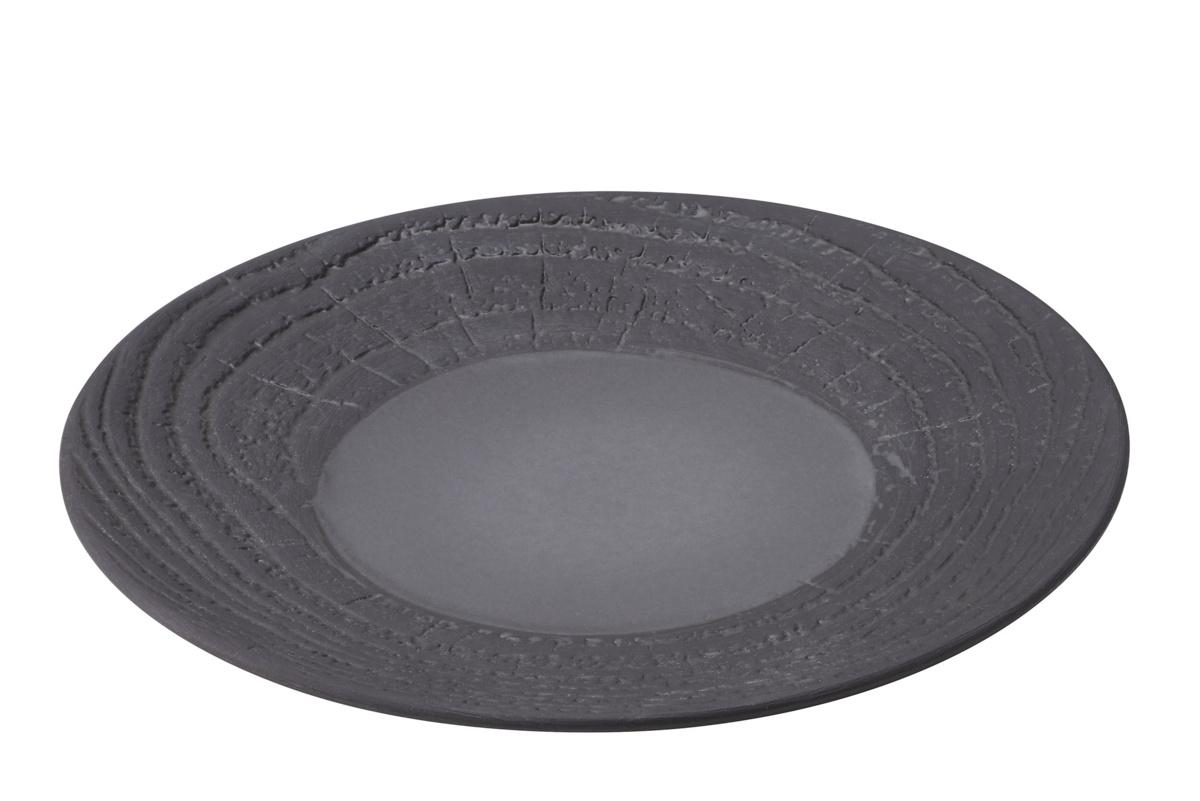Assiette coupe plate ronde réglisse porcelaine Ø 21,50 cm Arborescence Revol