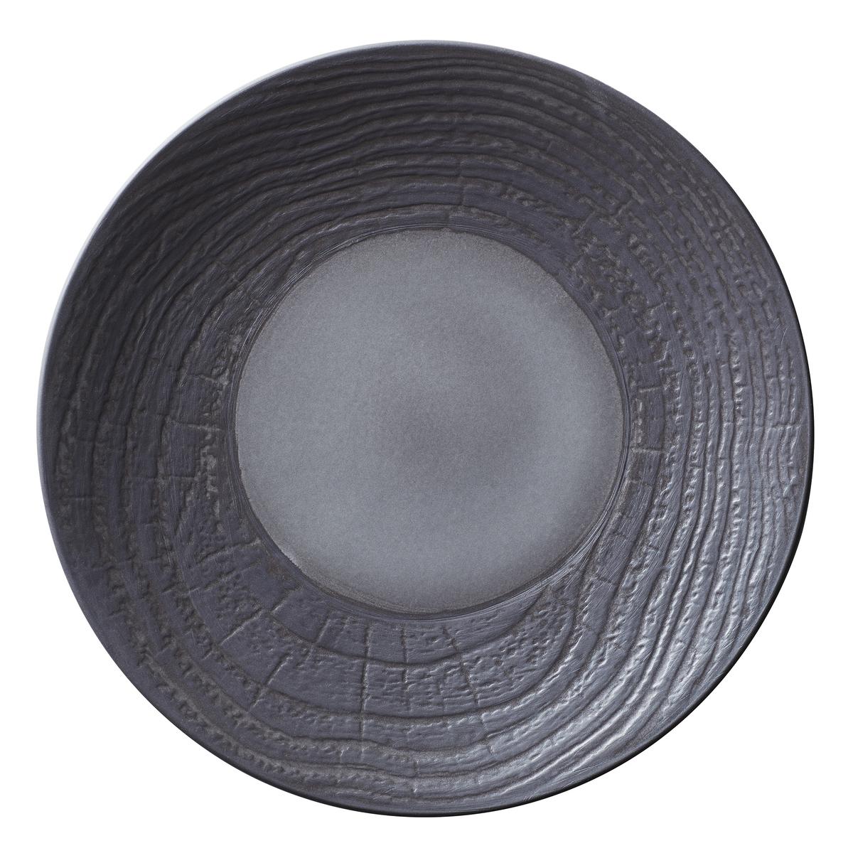Assiette coupe plate ronde réglisse porcelaine Ø 28,30 cm Arborescence Revol