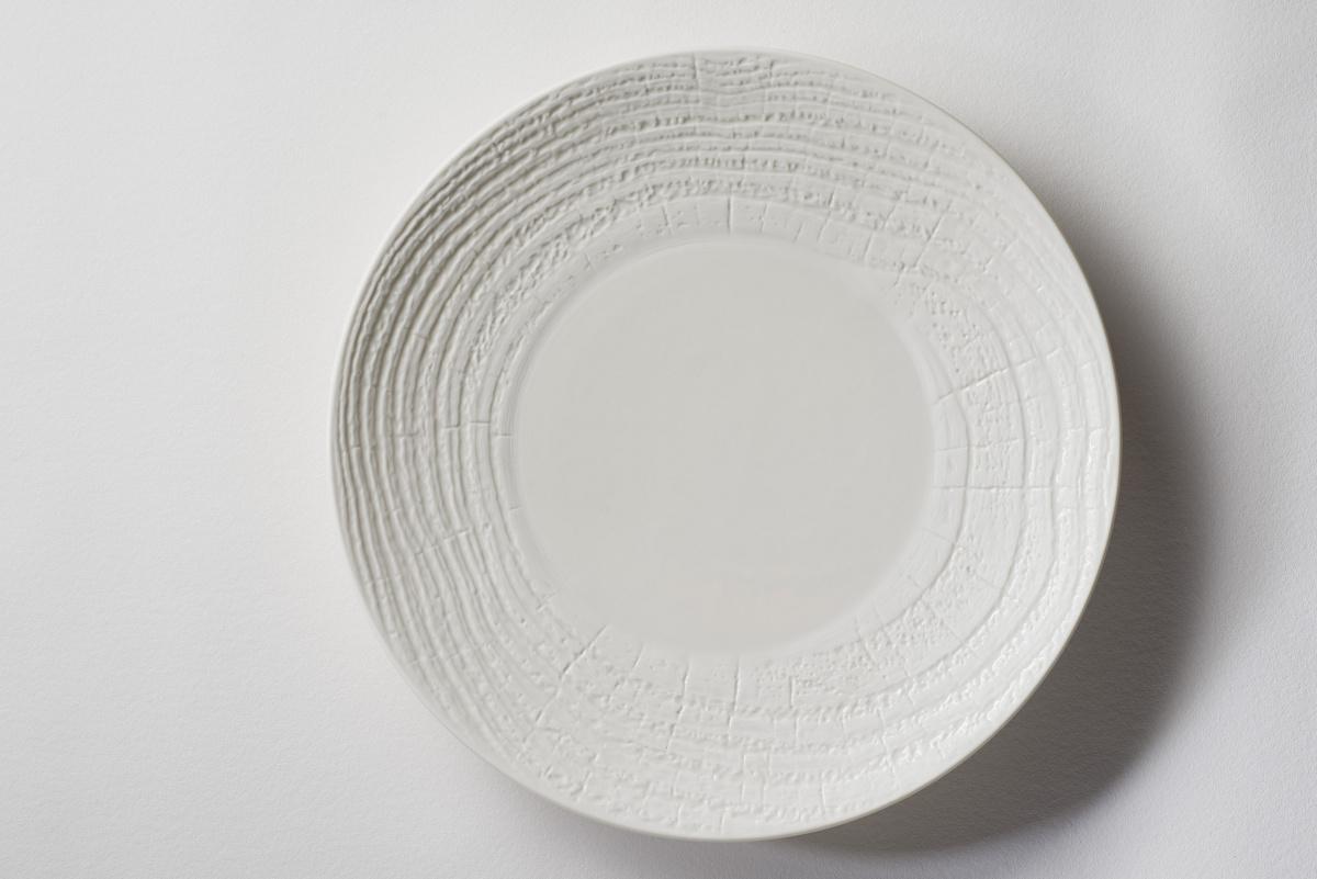 Assiette coupe plate ronde ivoire porcelaine Ø 31 cm Arborescence Revol