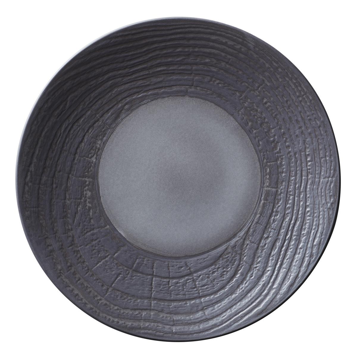 Assiette coupe plate ronde réglisse porcelaine Ø 31 cm Arborescence Revol