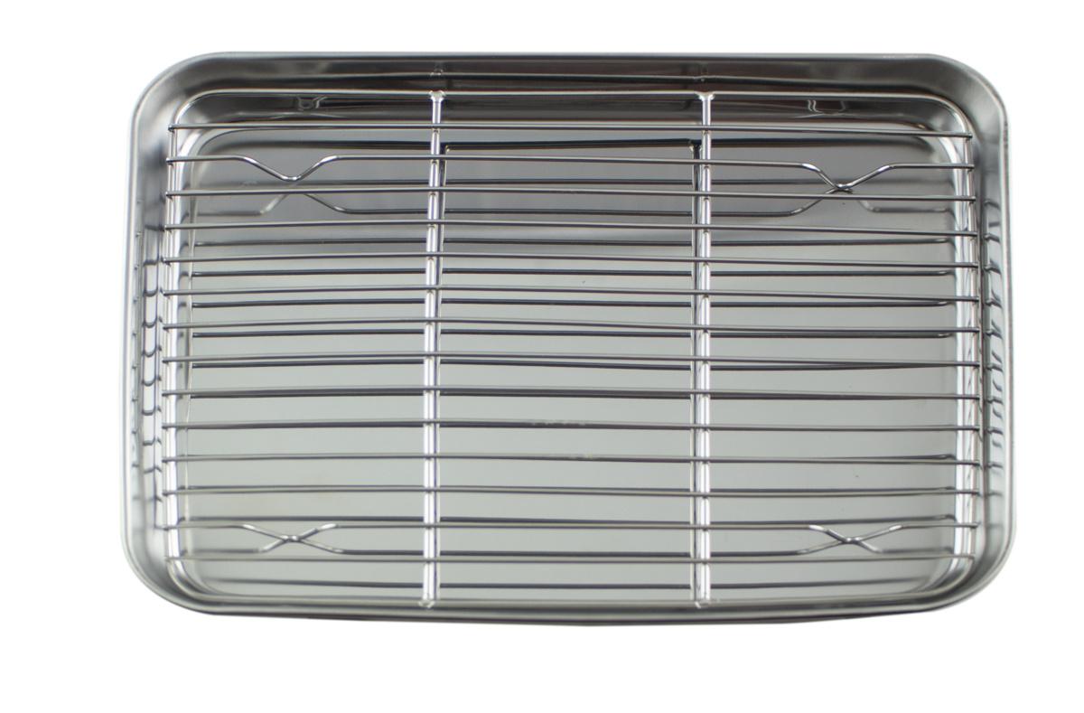 Plateau à dresser inox 18,50x26 cm Pro.cooker