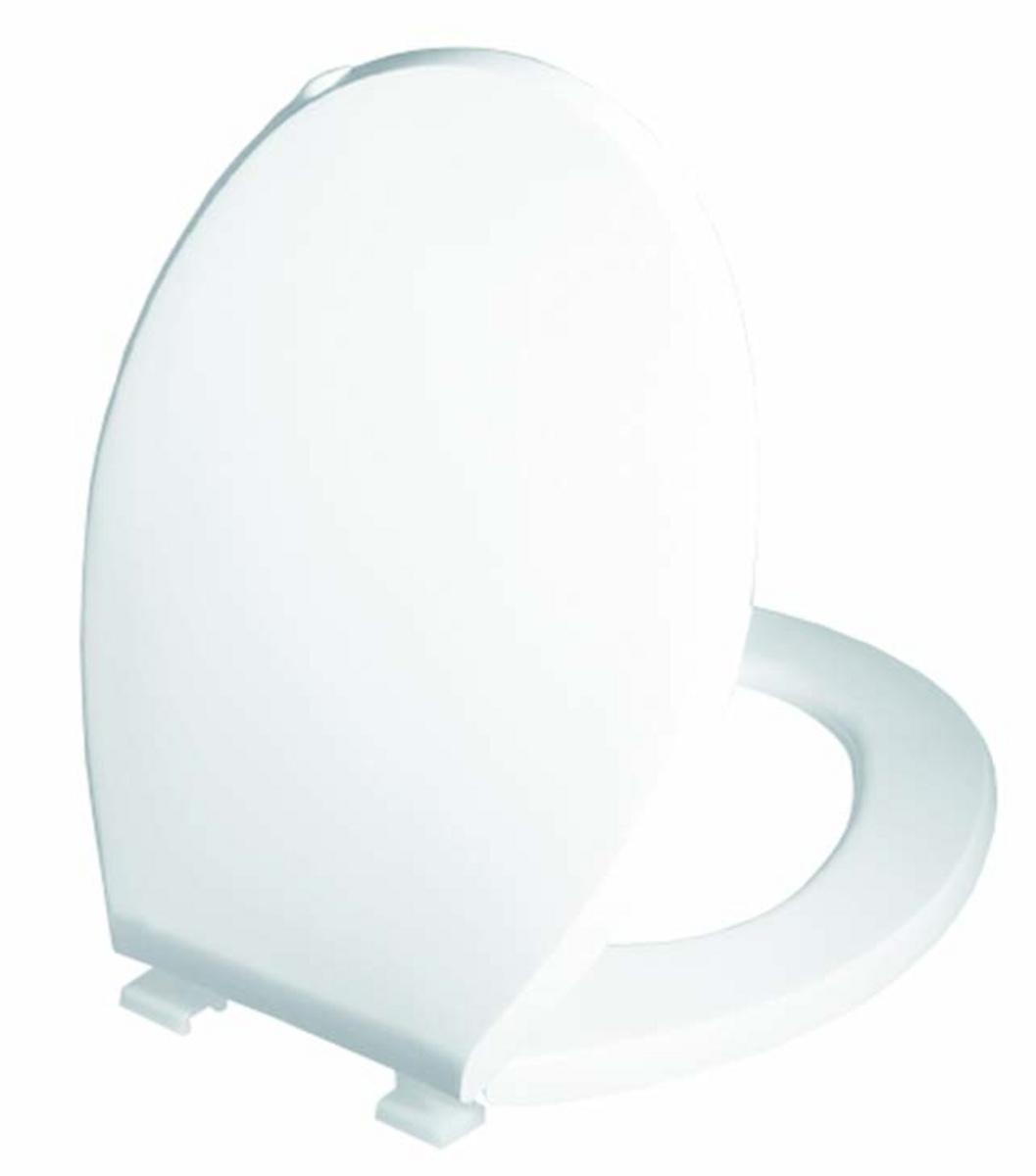 Abattant wc rond blanc plastique Ø 37 cm Gilac