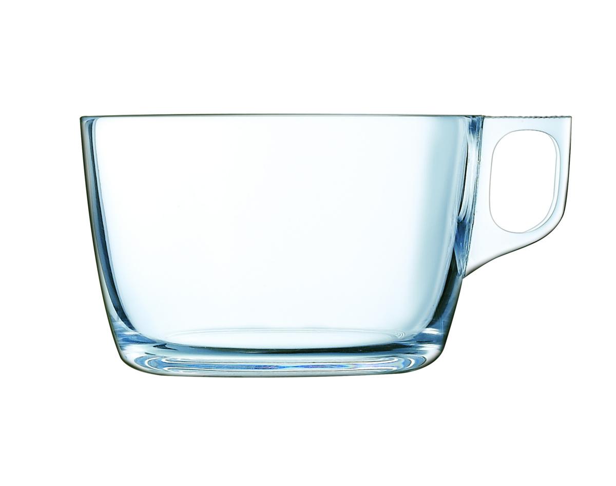 Tasse à déjeuner ronde transparente verre 50 cl Ø 13,70 cm Voluto Arcoroc