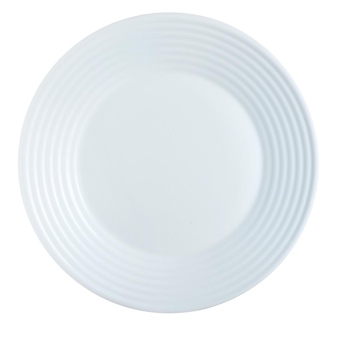 Assiette plate rond blanc Stairo Arcoroc