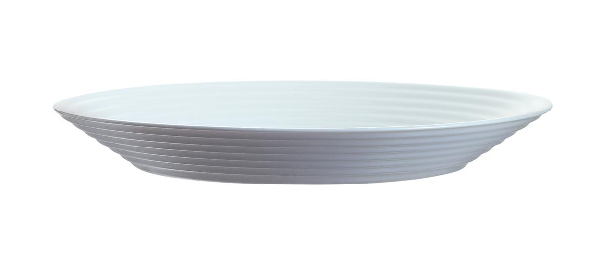 Assiette creuse ronde blanc verre Ø 23,60 cm Stairo Arcoroc