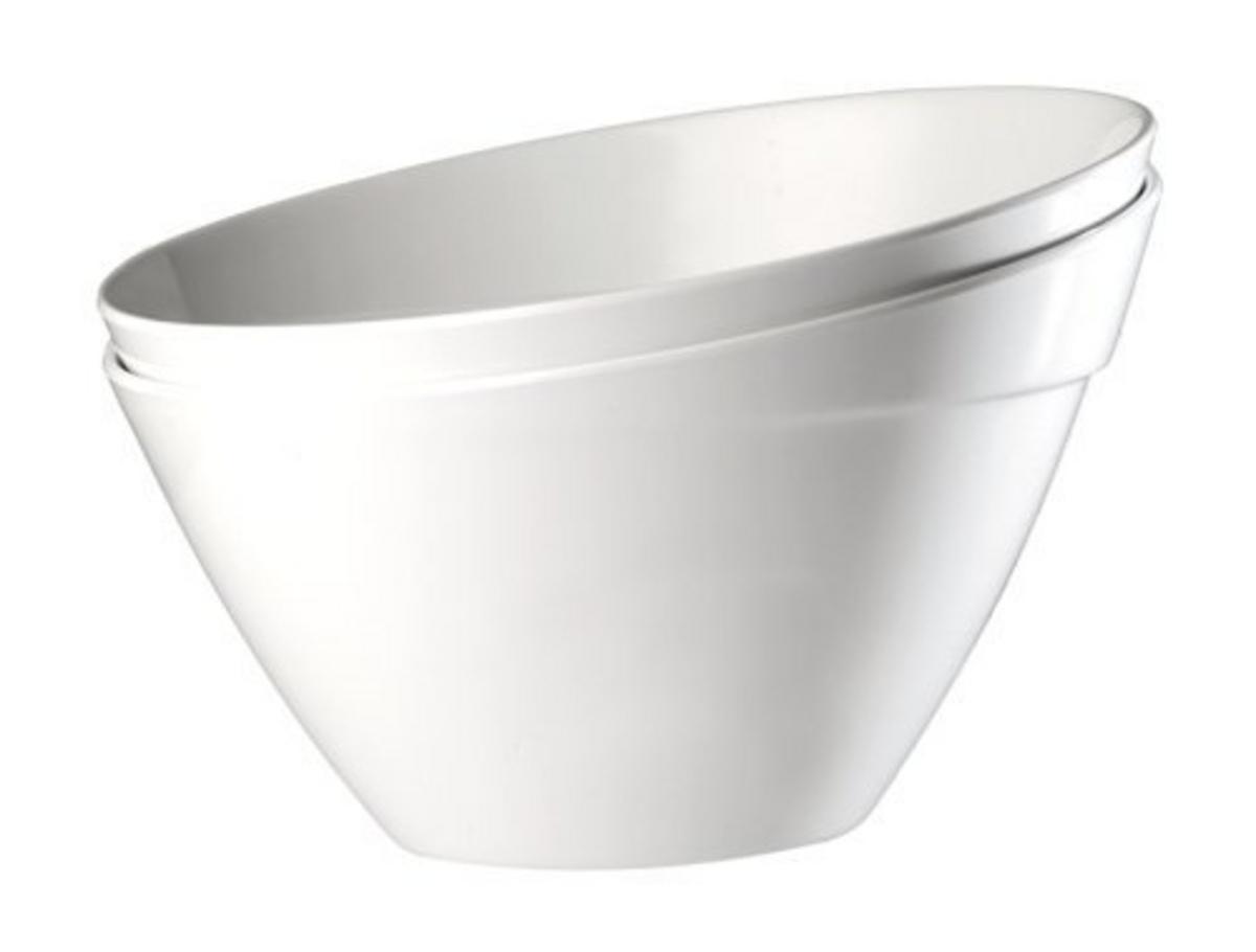 Saladier rond blanc mélamine 2,50 l Ø 24,50 cm Balance Aps