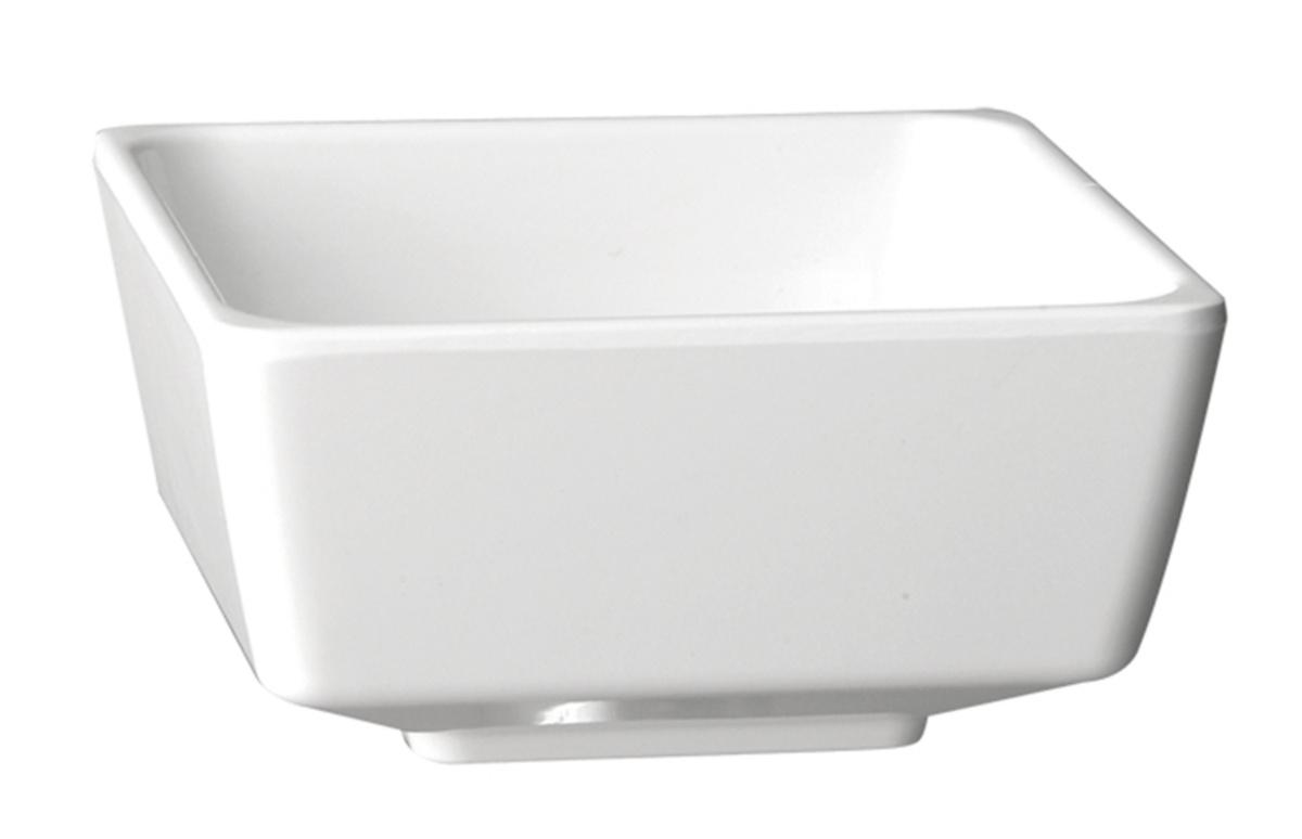 Saladier carré blanc mélamine 4 l 25,50 cm Float Aps