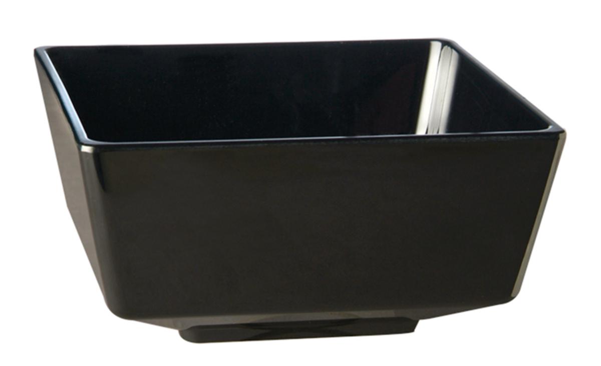 Saladier carré noir mélamine 1,50 l Ø 19,50 cm Float Aps