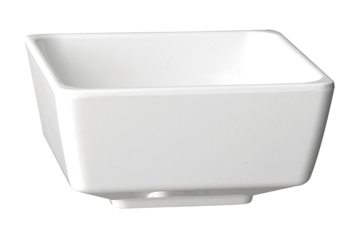 Saladier carré blanc mélamine 0,50 l Ø 12,50 cm Float Aps