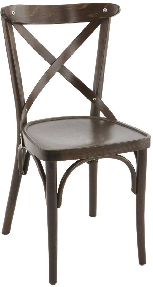 Chaise brun foncé 46 cm Sofia