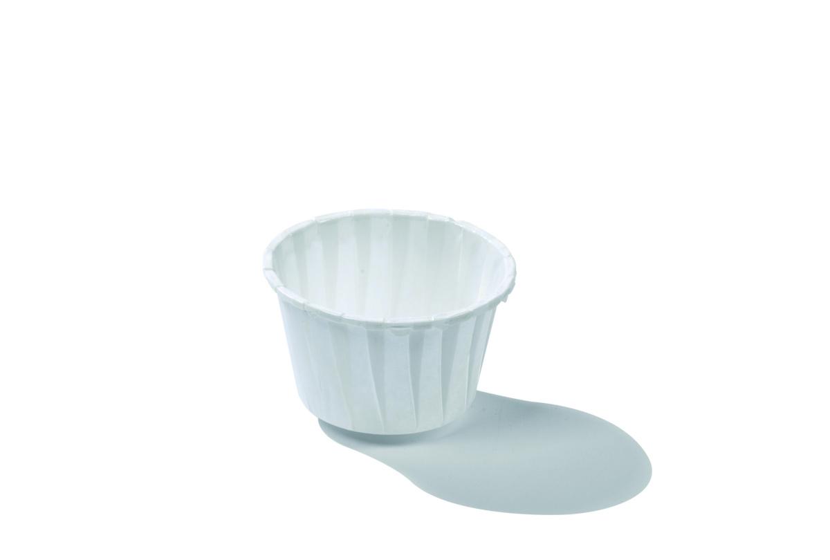 Caissette ronde blanc Ø 3,80 cm 3 cl (100 pièces)