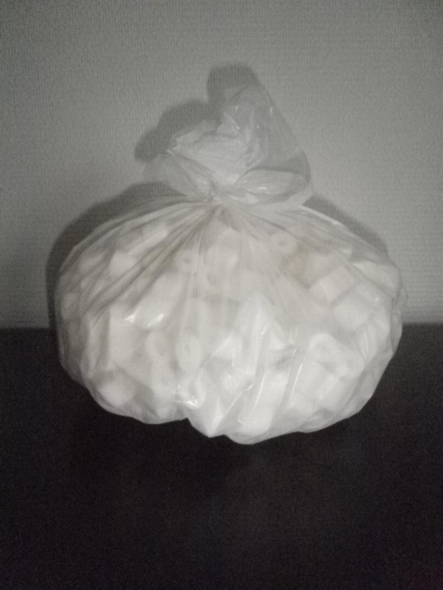 Sac à déchets blanc 10 l 10 µm (1000 pièces)