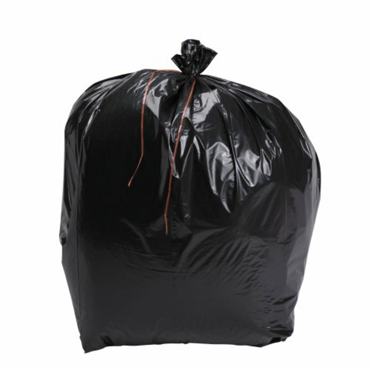 Sac à déchets noir 160 l 49 µm (100 pièces)