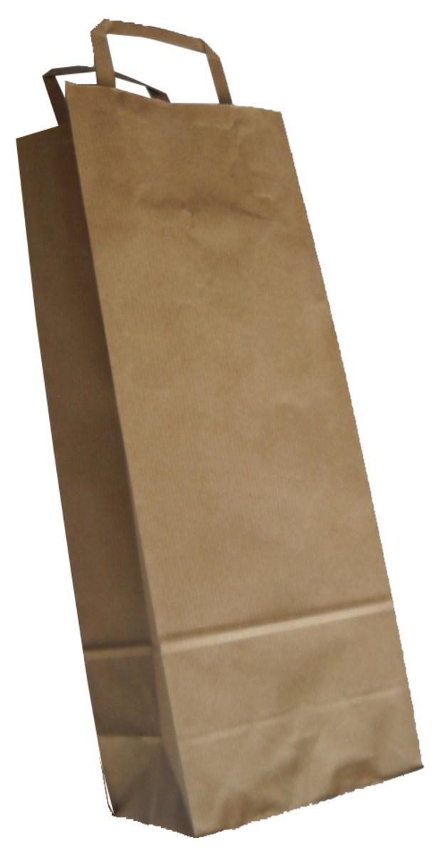 Sac bouteille brun 36x14 cm (250 pièces)
