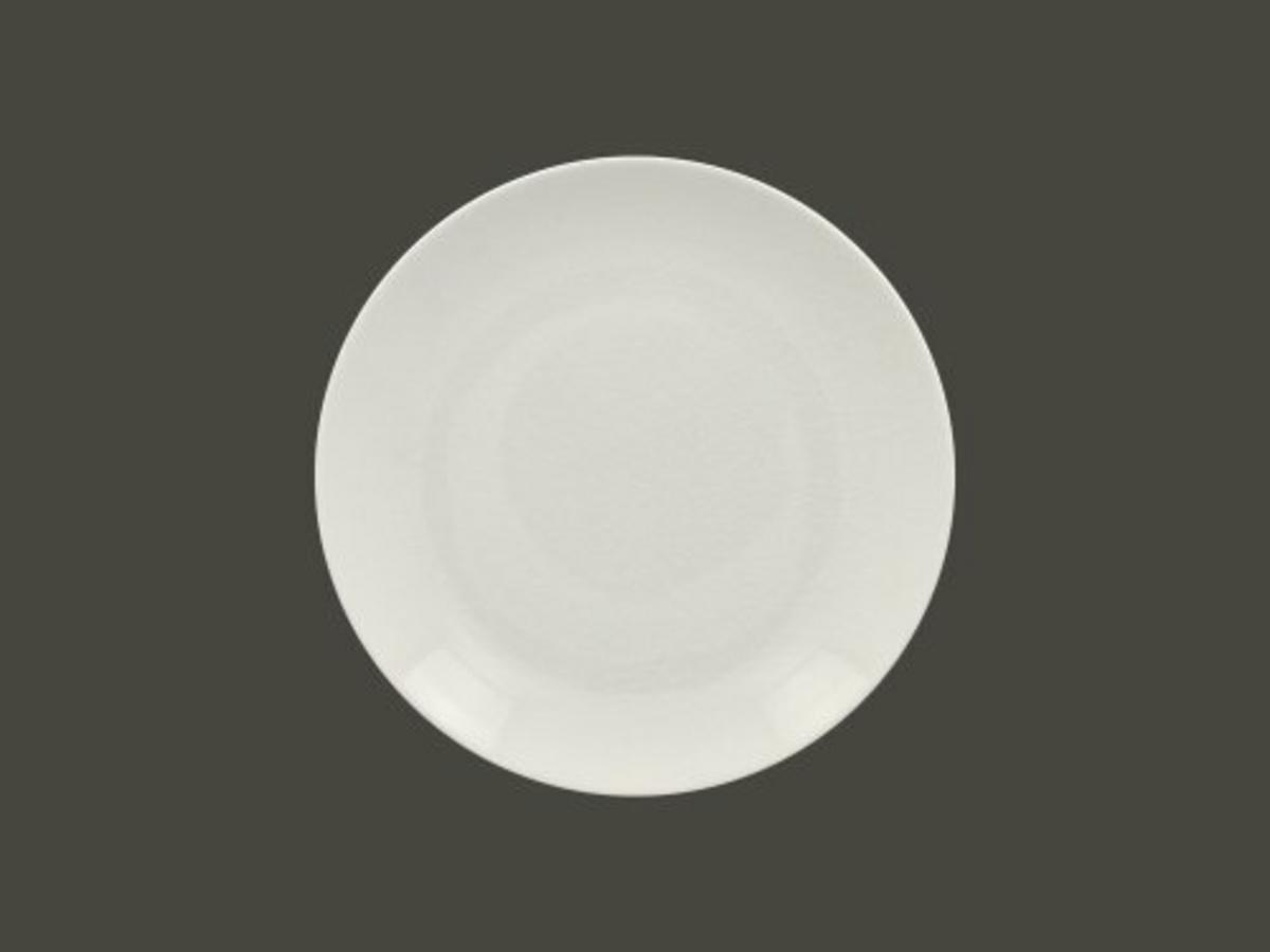 Assiette plate rond blanc Vintage Rak