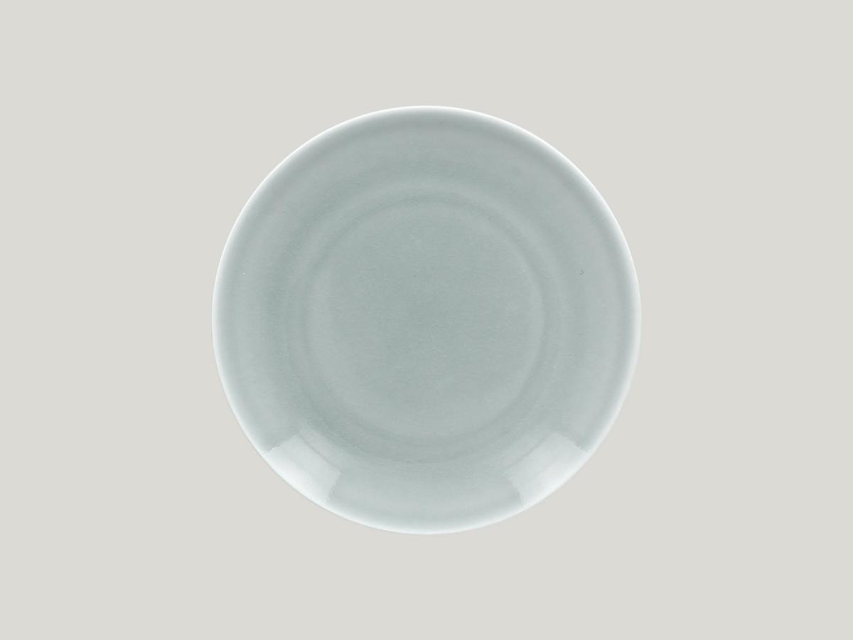 Assiette plate rond bleu Vintage Rak