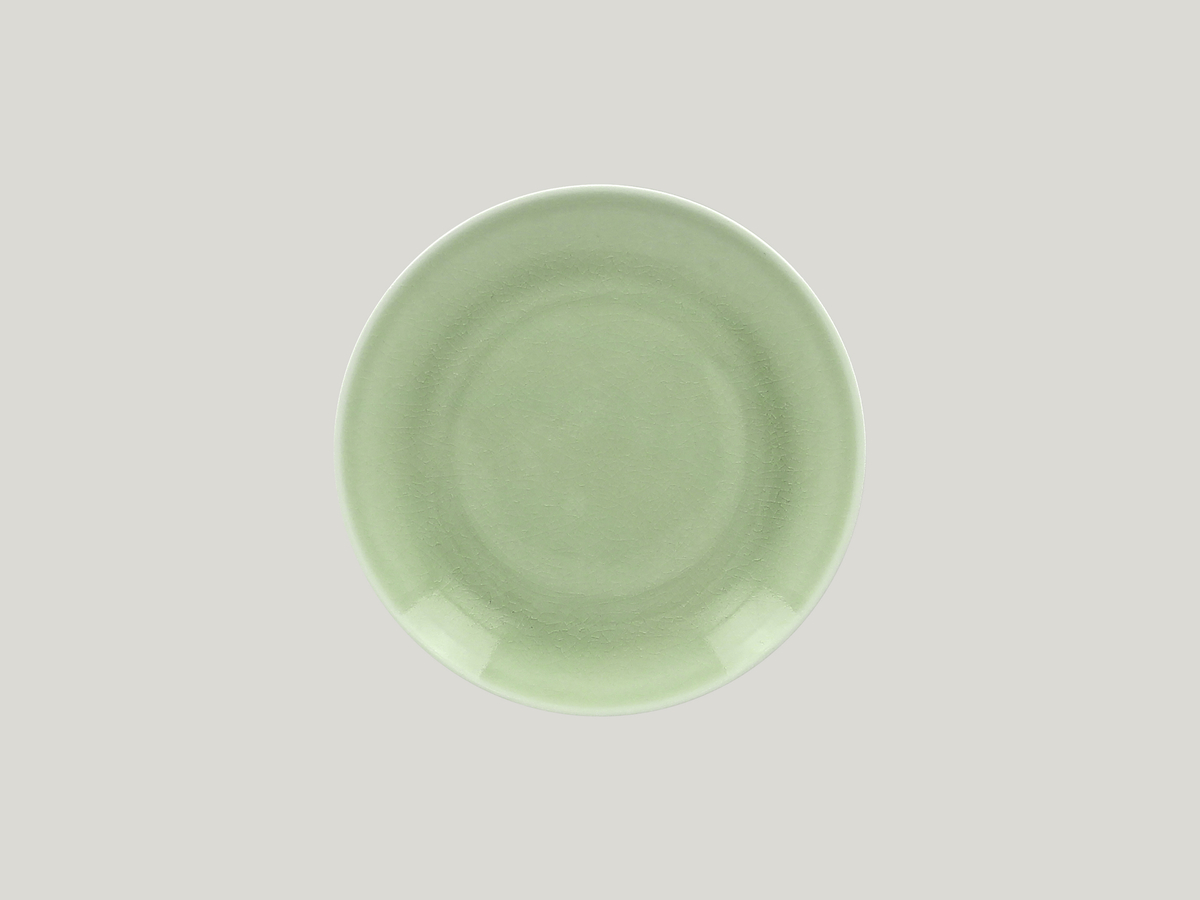 Assiette plate rond vert Vintage Rak