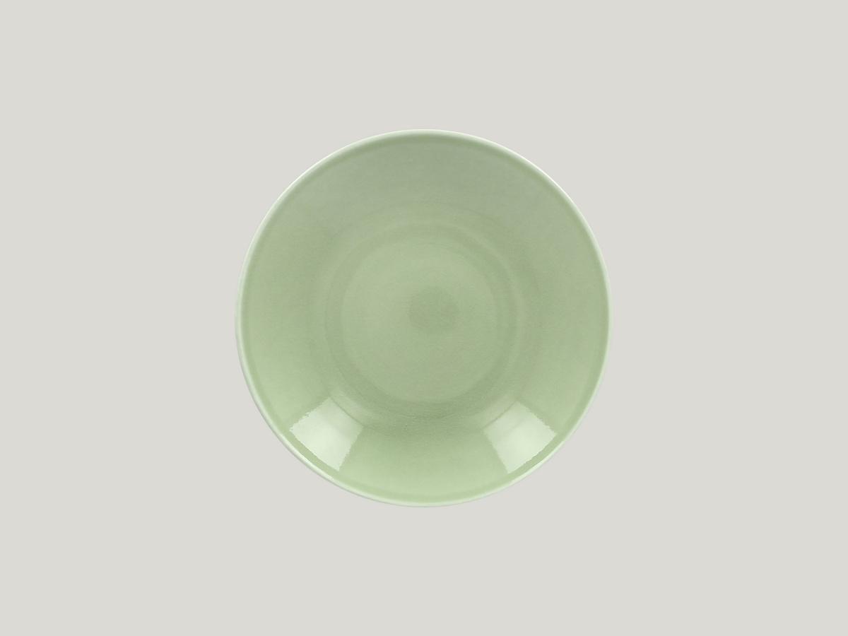 Assiette creuse rond vert Vintage Rak