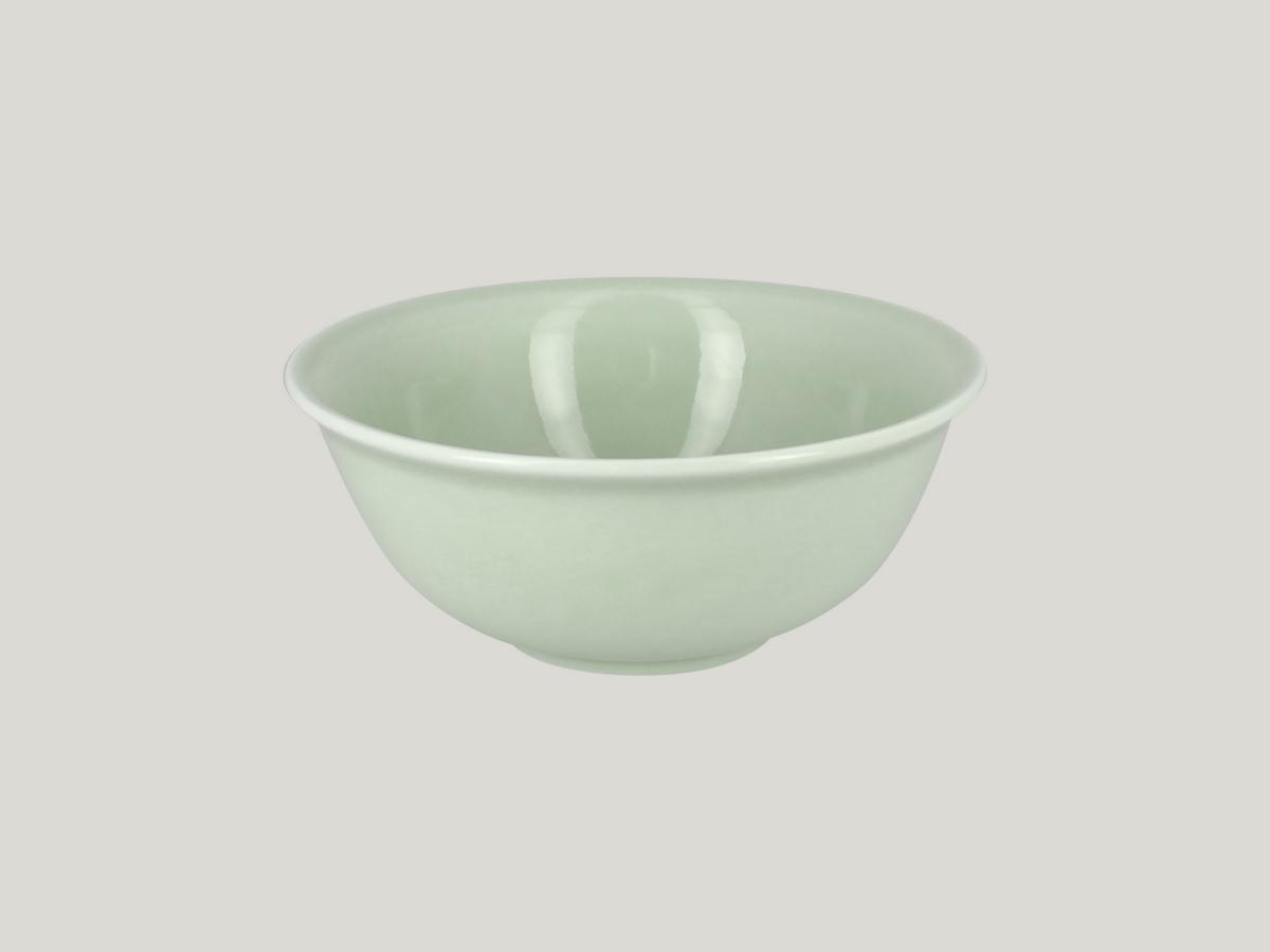 Bol rond vert porcelaine 58 cl Ø 16 cm Vintage Rak