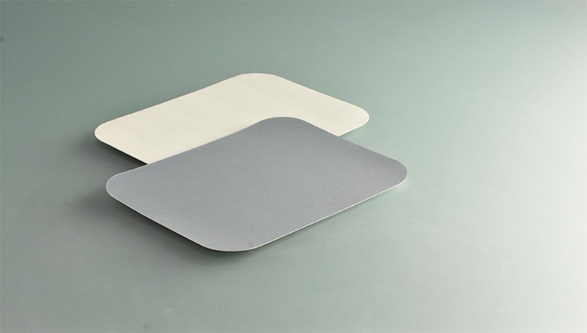 Couvercle pour barquette 68,5cl rectangulaire gris 19,50x10,30 cm 67 cl (100 pièces)