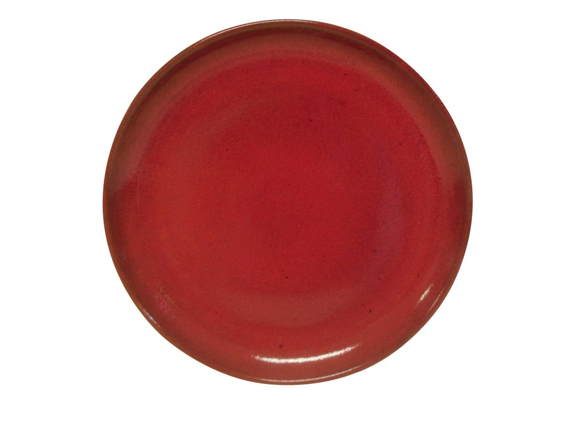 Assiette à pizza ronde rouge grès Ø 33 cm Gres Couleur Pro.mundi