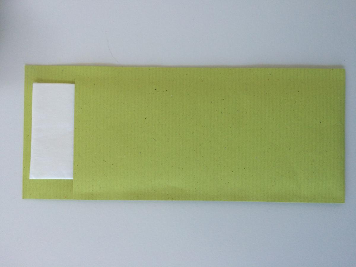 Pochette ouate de cellulose 20x8,50 cm Ecoline Pochettes