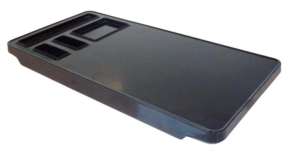 Plateau de courtoisie noir 20x39,70 cm Maestro Jvd