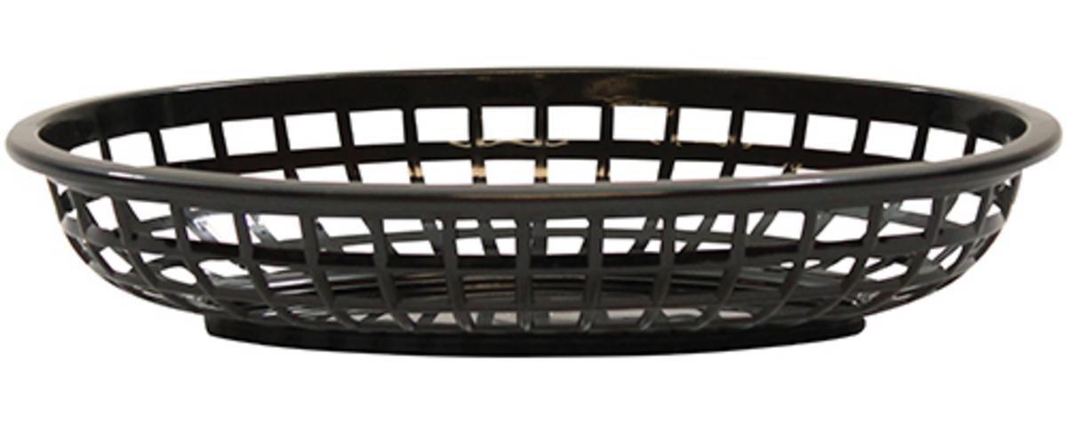 Corbeille ovale noire 15x24 cm 5 cm Classic Tablecraft