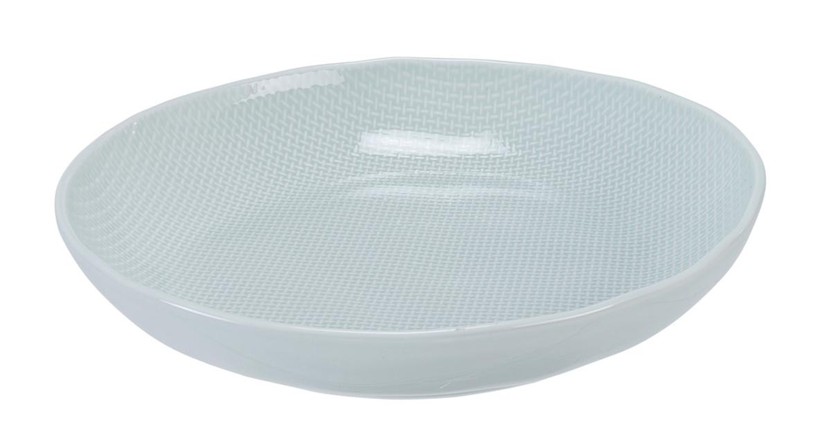 Assiette coupe creuse ronde céladon grès Ø 23,50 cm Linen Vaisselle Pro.mundi