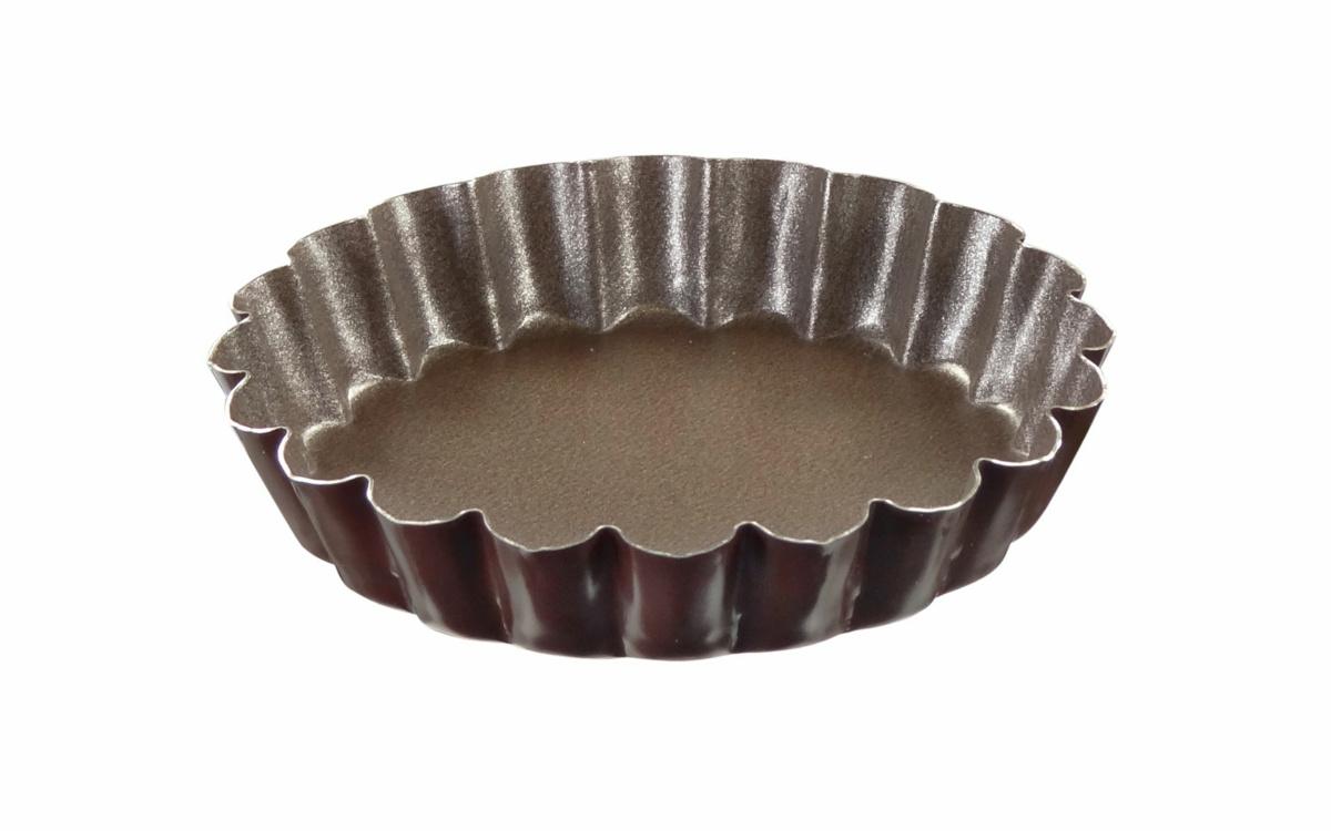 Moule à tartelette acier Avec revêtement anti adhésif Ø 10 cm Gobel (6 pièces)
