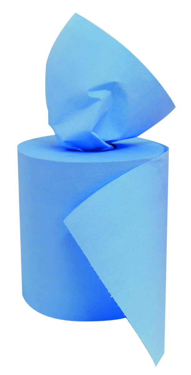 Bobine à dévidage central bleue ouate de cellulose 23x19,40 cm (6 pièces)