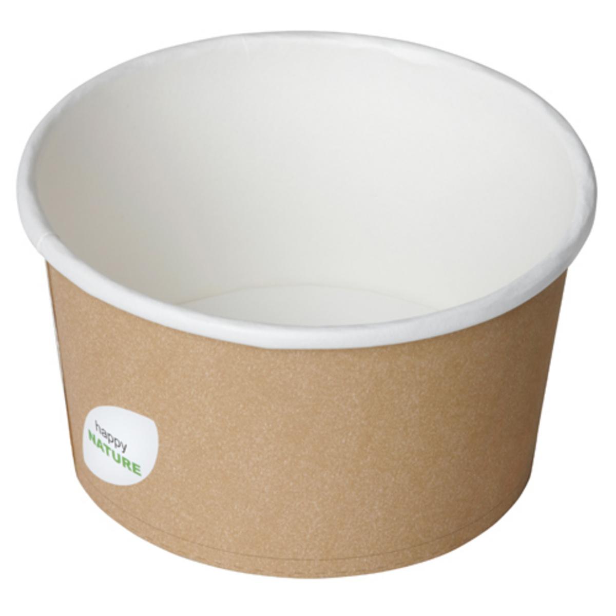 Bol rond beige Ø 11,50 cm 40 cl Duni (50 pièces)