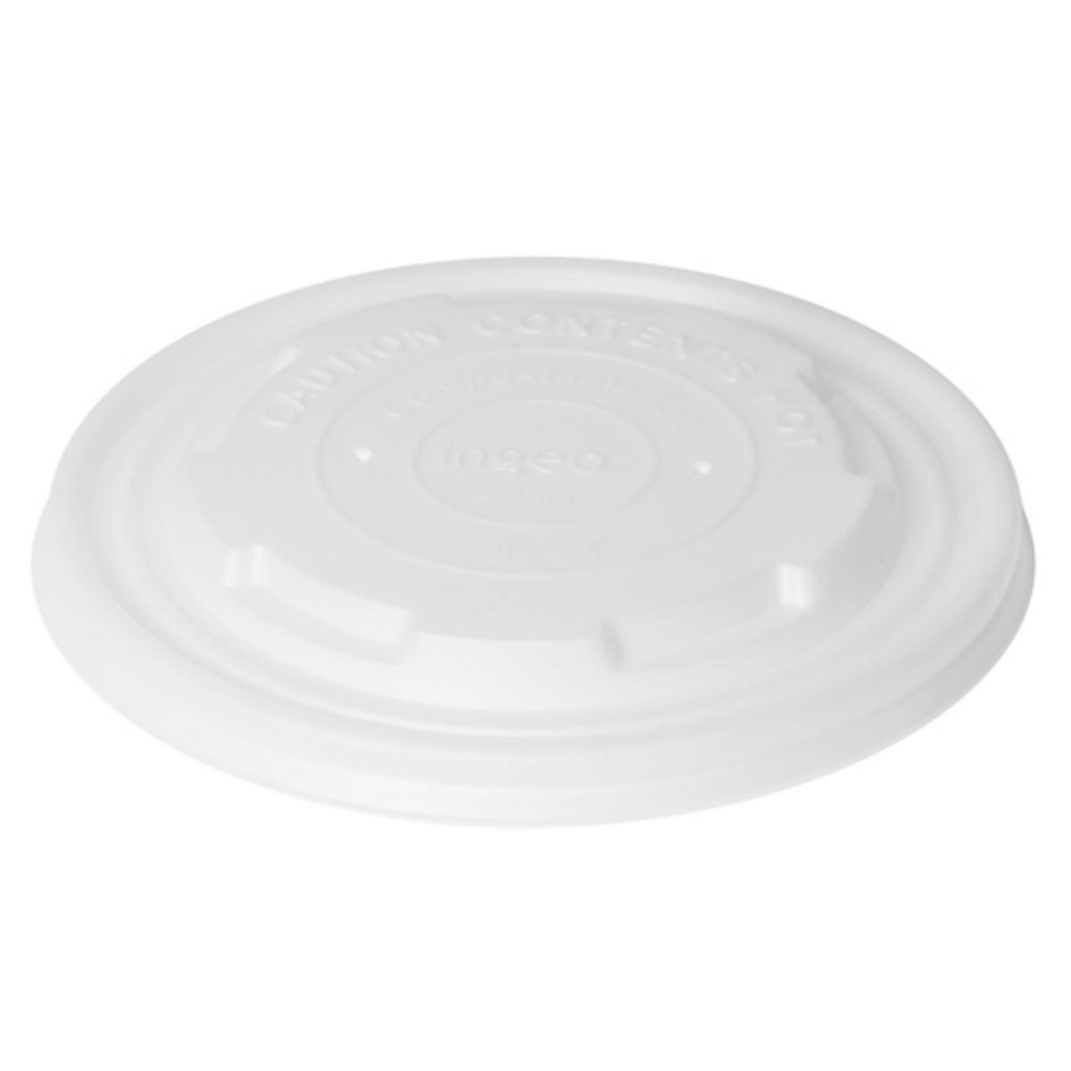 Couvercle pour bol 40/55/95cl rond blanc Ø 12 cm Duni (50 pièces)