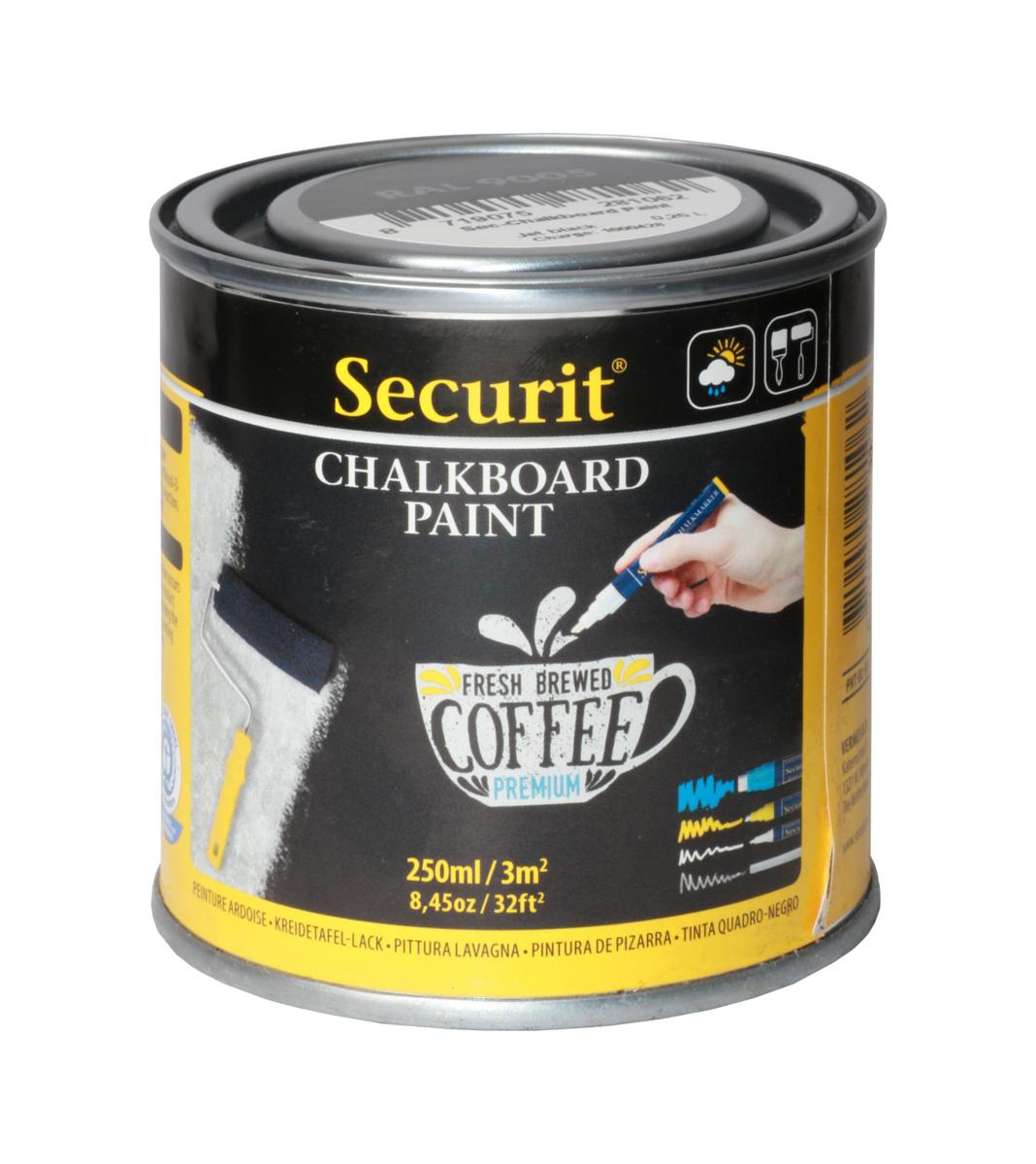 Peinture ardoise noire 7,60x7,60 cm Securit