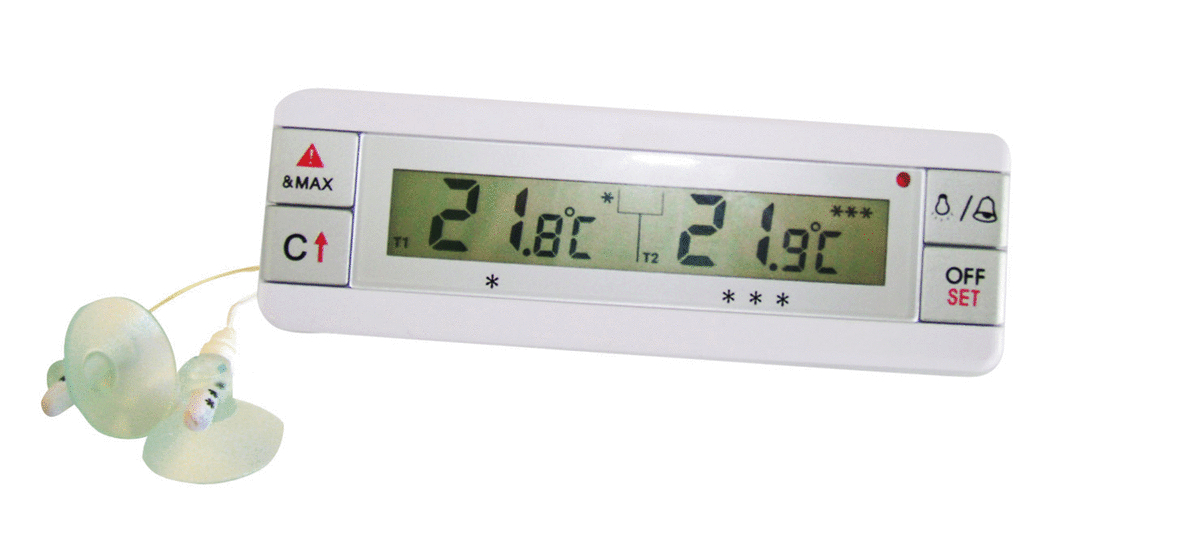 Thermomètre digital réfrigérateur -40/70 °C +/-1°C Alla France