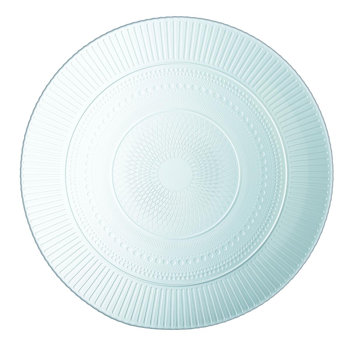 Assiette plate rond transparent Louison Luminarc
