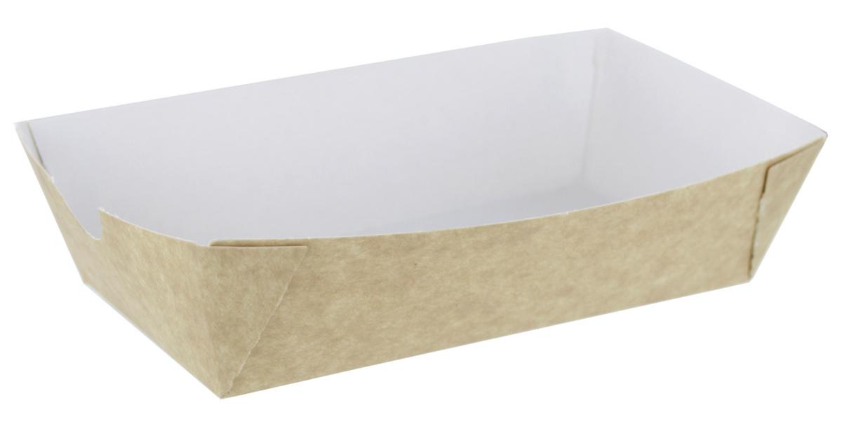 Barquette rectangulaire beige 85x155 cm 40 cl Huhtamaki (500 pièces)