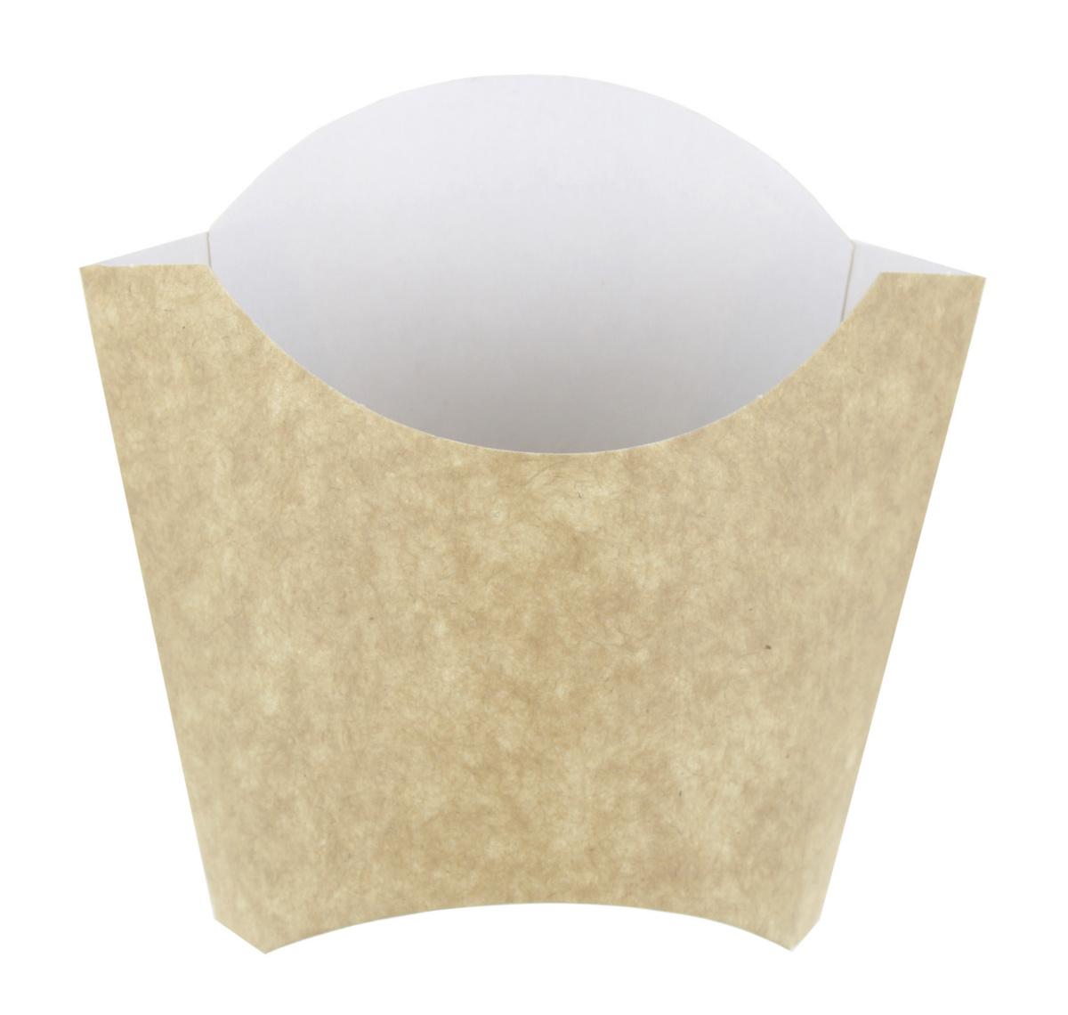Pochette à frites beige Ø 12 cm 40 cl Huhtamaki (100 pièces)