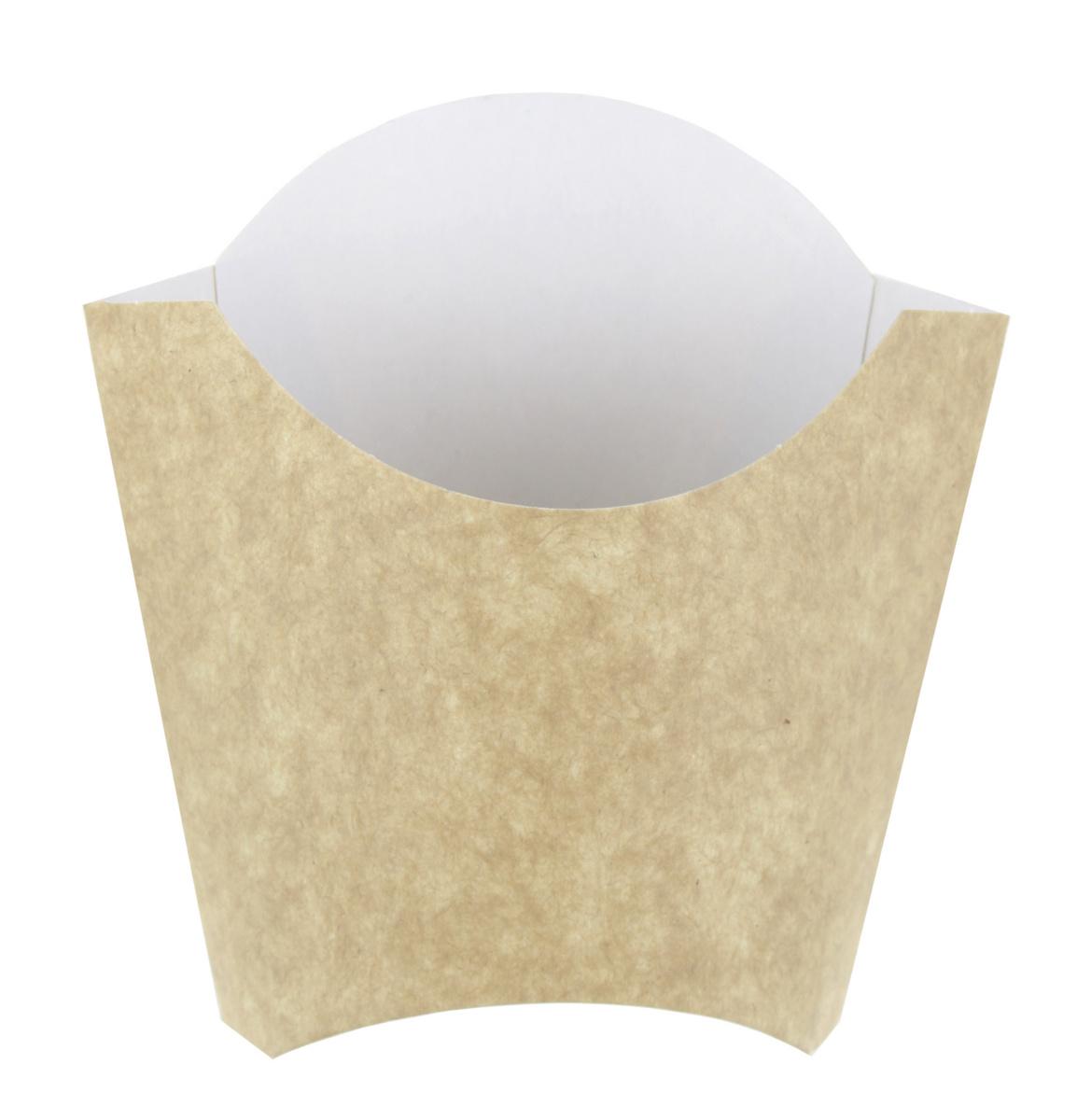 Pochette à frites beige Ø 13,50 cm 45 cl Huhtamaki (100 pièces)