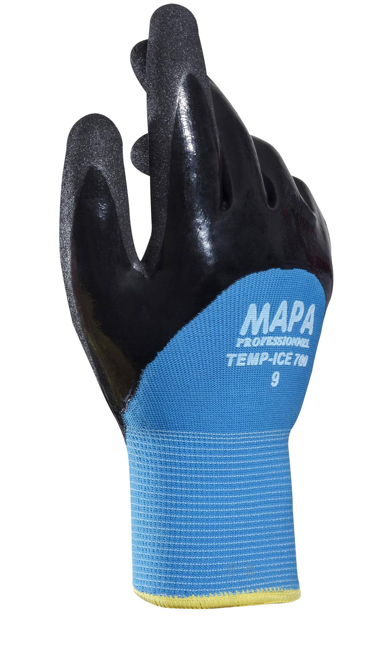 Paire de gants anti-froid noir taille 9 Temp Ice Mapa