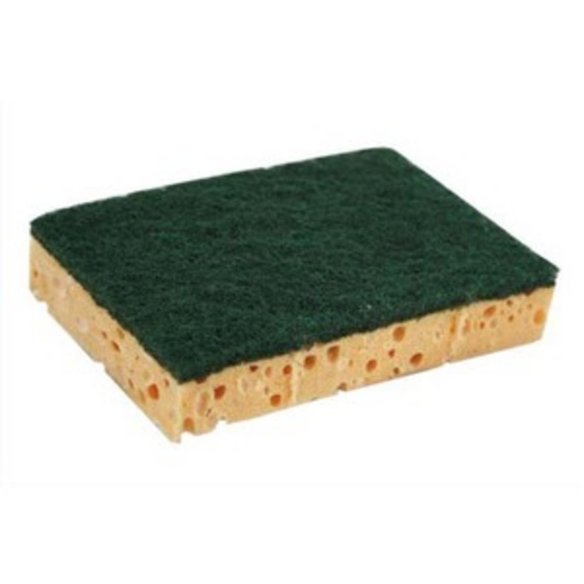 Lot de 10 tampons abrasifs sur éponge vert 8,80x12,90 cm (10 pièces)